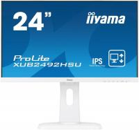 "Монитор Iiyama 23.8"" ProLite XUB2492HSU-W1 белый IPS LED 5ms 16:9 HDMI M/M матовая HAS Pivot 1000:1 250cd 178гр/178гр 1920x1080 D-Sub DisplayPort FHD USB 5.45кг"